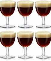 6x abdij abbey bierglazen speciaalbier 410 ml