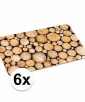 6x borden onderleggers boomstronk
