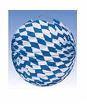 6x feest lampionnen blauw wit 25 cm
