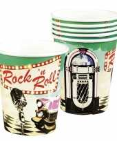 6x rock n roll bekertjes 250 ml