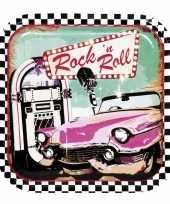 6x rock n roll bordjes 23 cm