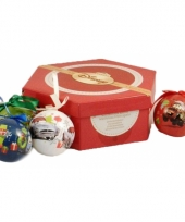7 cars kerstballen in giftset