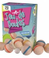 7 delige jeu de boules set van hout