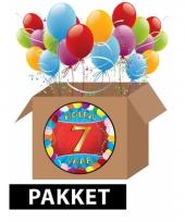 7 jaar feest versiering voordeelbox