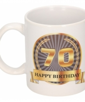 70e verjaardag koffiemok beker 300 ml