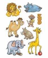 72x dierentuin dieren stickers