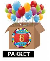 8 jaar feest versiering voordeelbox