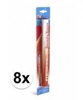 8 rode bengaalse fakkels 36 cm 60 sec