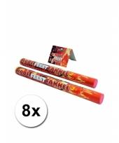 8 rode fakkels bengaals vuur
