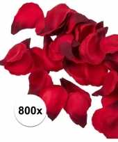 800x rode strooi rozenblaadjes 3 cm
