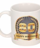 80e verjaardag koffiemok beker 300 ml