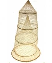 85 cm neutraal visnet met 4 ringen
