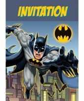 8x batman themafeest uitnodingen kaarten