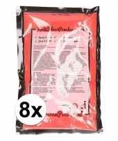 8x holi kleurpoeder rood
