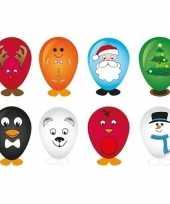 8x kerst ballonnen versieren 27 cm