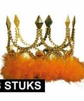 8x koningskronen goud met oranje veren