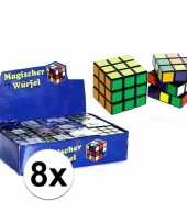 8x kubus spelletjes 7 cm