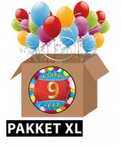 9 jaar feest versiering voordeelbox xl