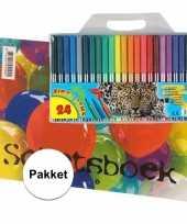A4 schetsboek inclusief viltstiften