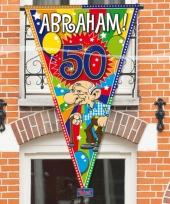 Abraham 50 jaar versiering puntvlag