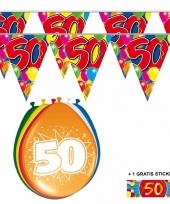 Abraham sarah 50 jaar 2 slingers en ballonnen