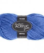 Acryl haak garen blauw 80 meter