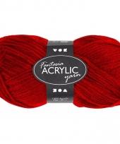 Acryl haak garen rood 80 meter