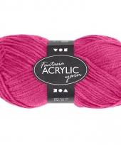 Acryl haak garen roze 80 meter