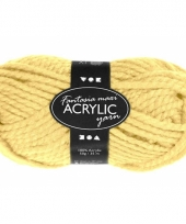 Acryl wol garen licht geel 50 gram