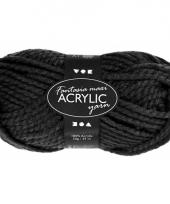 Acryl wol garen zwart 50 gram