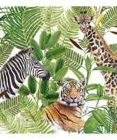 Afrikaanse wilde dieren servetten