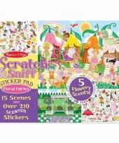 Agenda stickers bloemengeur voor meisjes