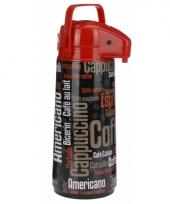 Airpot koffiekan zwart rood 2 liter