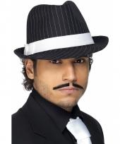 Al capone hoeden zwart wit