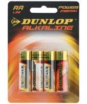 Alkaline batterijen lr6 aa dunlop 4 stuks