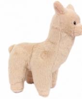Alpaca knuffeltje beige 17 cm