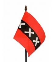 Amsterdamse landenvlag op stokje