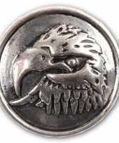 Arend drukknoop zilver 1 8 cm