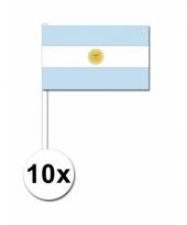 Argentinie zwaai vlaggetjes 10 stuks