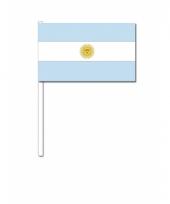 Argentinie zwaai vlaggetjes 12 x 24 cm