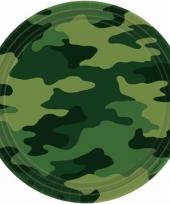 Armyprint bordjes 8 stuks