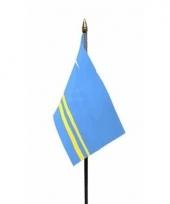 Arubaanse landenvlag op stokje