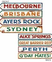 Australie straatnaamborden plaatsen decoraties