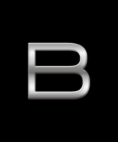 Autostickers letter b chrome kleur