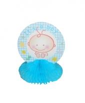 Baby blauwe tafeldecoratie
