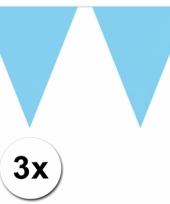 Baby blauwe vlaggetjeslijnen 30 meter