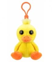 Baby eend sleutelhangertje 9 cm