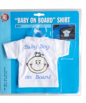 Baby on board t-shirt met zuignap jongen