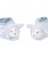Baby pantoffels lammetje blauw
