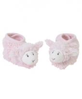 Baby pantoffels lammetje roze